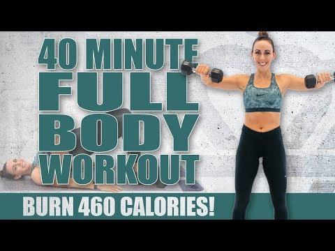 40 Minute FULL BODY WORKOUT! 🔥Burn 460 Calories! 🔥Sydney Cummings