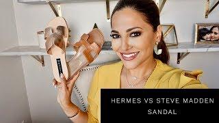HERMES ORAN vs STEVE MADDEN GREECE SANDALS | Lina Noory