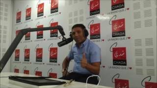 المدرب المغربي رشيد غفلاوي مدرب سانغا بلاندي من جمهورية الكونغو على CHADA FM