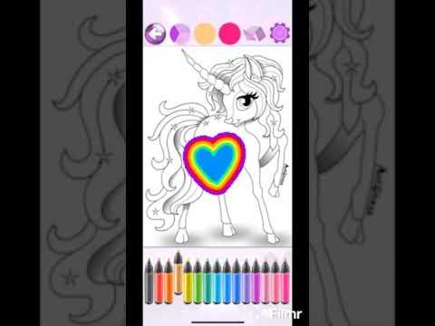 Раскраска пони ,для девочек , пинки пай,единорог, Little Girl