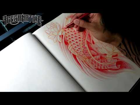 How To Draw A Koi Tattoo Style