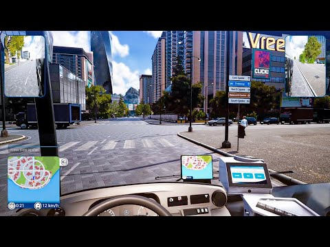 First Day on the Job Driving Bus in Beautiful City | Bus Simulator 18 Gameplay |