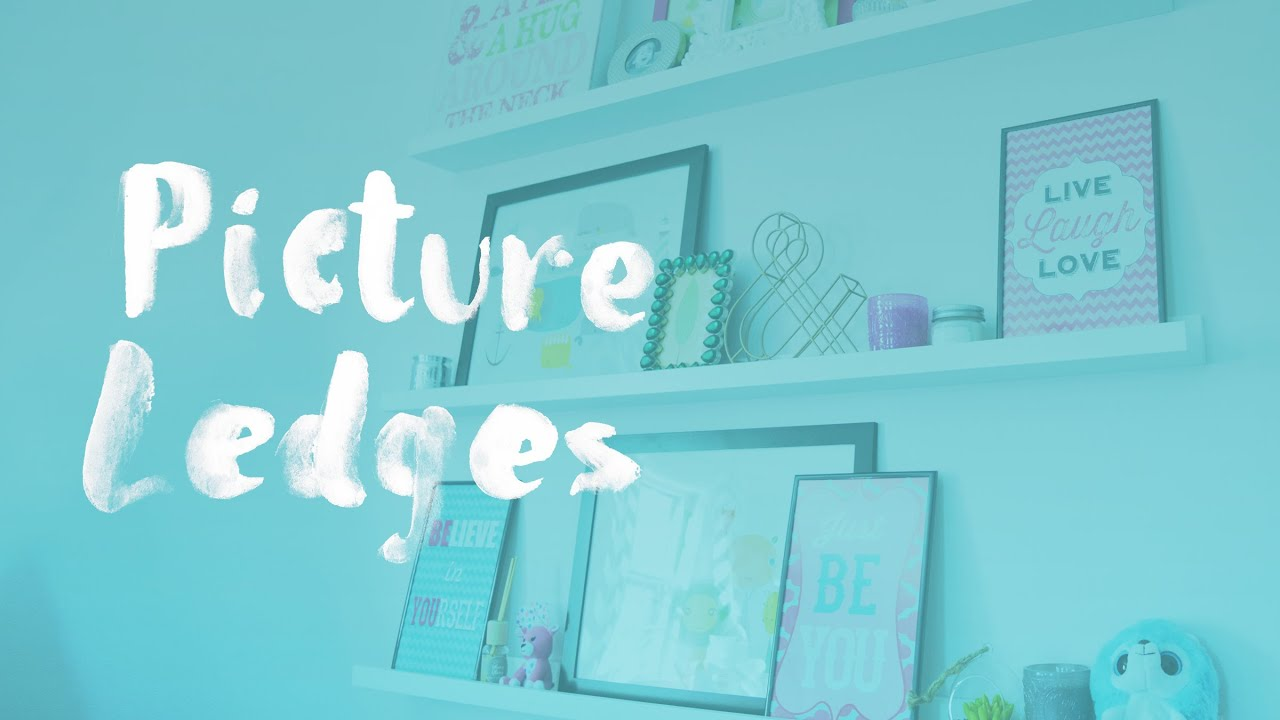 styling ikea picture ledges for kids shelf help episode 5 youtube