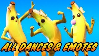 New Peely Skin Showcase With All Fortnite Dances & New Emotes - New Fortnite Season 8 Outfit