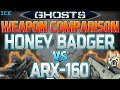Call of Duty Ghosts Honey Badger vs. Silenced ARX 160 Weapon Comparison Ghosts Comparison