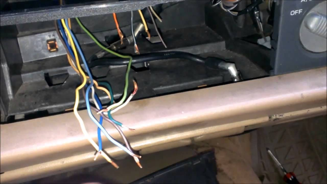 how to wire stereo blazer jimmy bravada sonoma s10 - YouTube