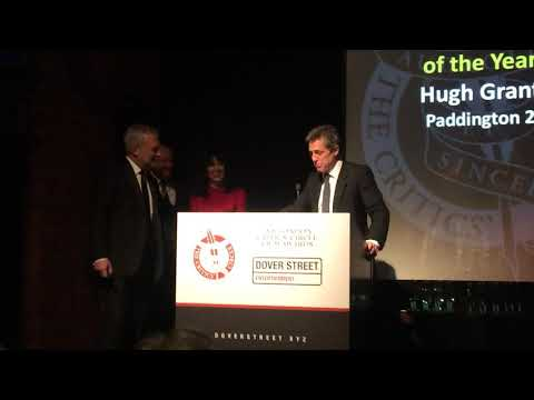 Hugh Grant winning Best Supporting Actor at the 2018 London Critics Circle awards