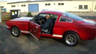 1966 Shelby GT 350 Mustang walk around & burn out.