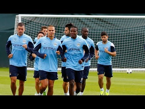 Manchester City Training ahead of Feyenoord  UCL