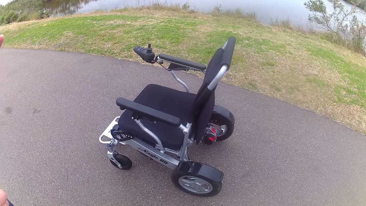 Extended overview of the eagle folding power wheelchair for Mobility chair