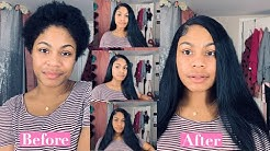 START TO FINISH SIDE PART QUICK WEAVE ON NATURAL HAIR | ASHLEY DI'JONE