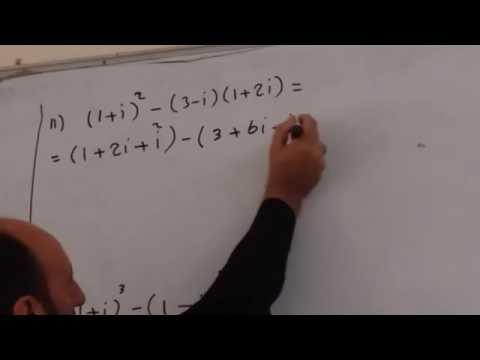 دورة الرياضيات : مجموعة الاعداد المركبة جمع وطرح الأعداد المركبة ج2 أ: قصي هاشم