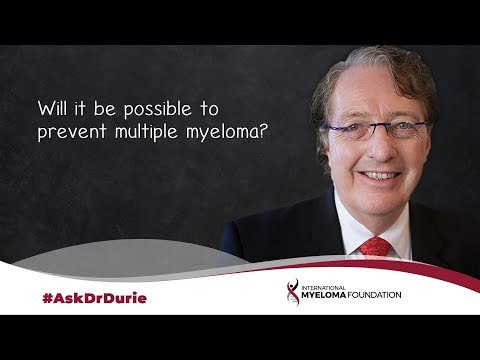Will it be possible to prevent multiple myeloma?