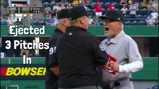 MLB Earliest Ejections