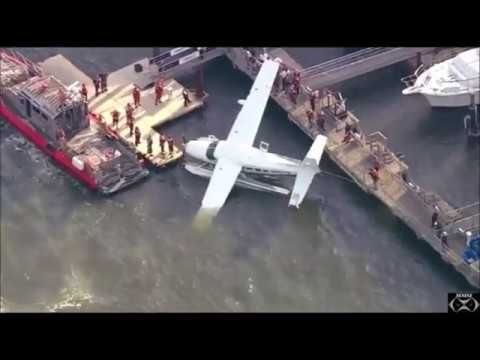 Sea Plane Ditches In East_River 7-21-17