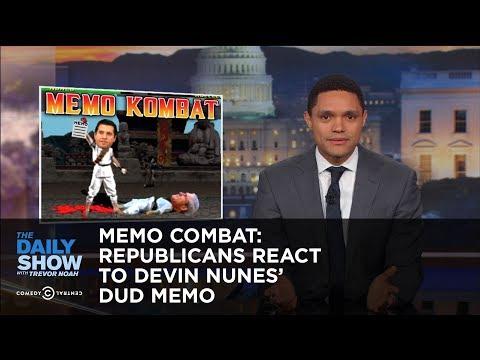 Memo Combat: Republicans React to Devin Nunes's Dud Memo: The Daily Show