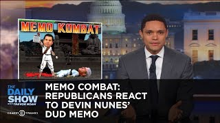 Memo Combat: Republicans React to Devin Nunes's Dud Memo: The Daily Show