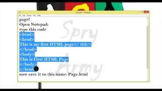 Make your first HTML page