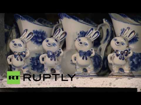 Russia: Sochi Olympic mascots get ceramic makeover