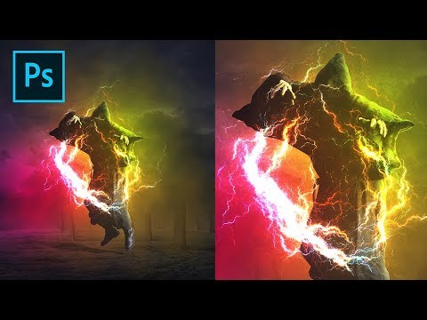 Photoshop Fractal Effect Light - Photo Editing Tutorial
