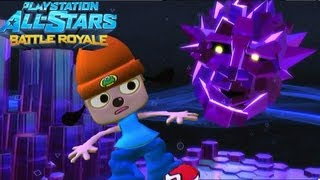 Playstation All Stars Battle Royale: PaRappa Arcade Walkthrough (Commentary) (PS3) (HD)