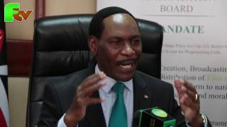 KFCB press statement by Ezekiel Mutua