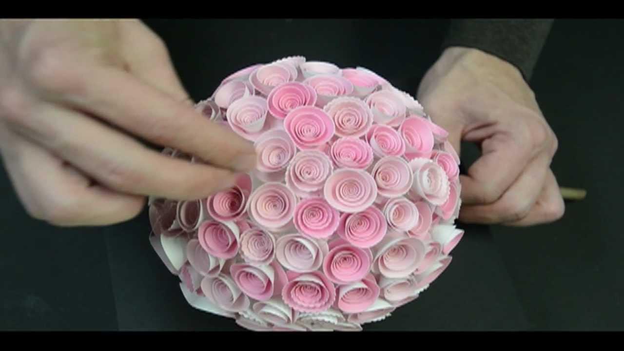 Memory Box Paper Rose Topiary Youtube