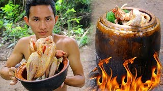 Shoot Chicken Near my village and Cooking Roaster Chicken by water Tank extremely delicious