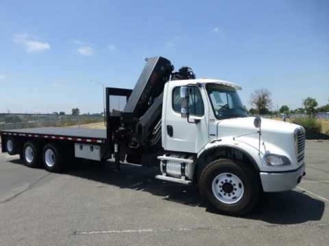 2007 Freightliner M2 112 Hiab E-7 Hipro 10 Ton Knuckle Boom Truck