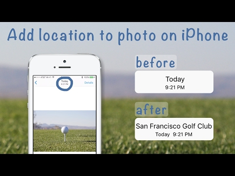 How to change the location on iphone photo size