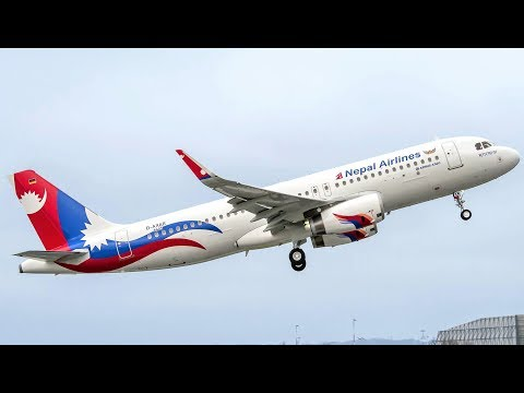 Nepal Airline Take Off From Tribhuvan International Airport Kathmandu