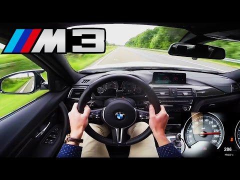 BMW M3 Competition Top Speed Acceleration Autobahn POV Sound - 450 HP F80 Sedan