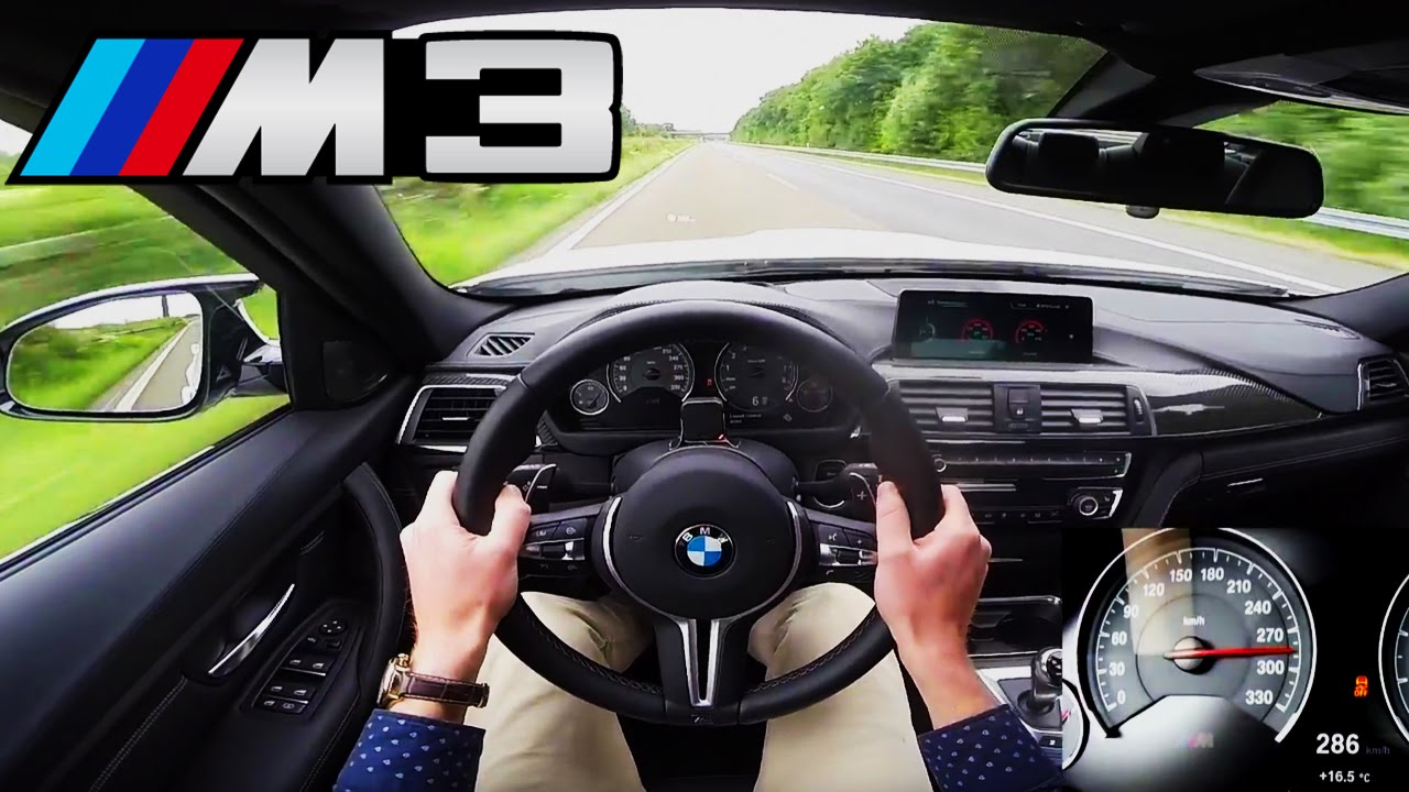 Bmw M3 Sedan >> BMW M3 Competition Top Speed Acceleration Autobahn POV Sound - 450 HP F80 Sedan - YouTube