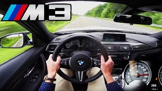 BMW M3 Competition Top Speed Acceleration Autobahn POV Sound - 450 HP F80 Sedan
