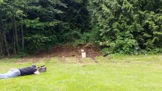 Tannerite Vs Wood With A .50cal Muzzle Loader