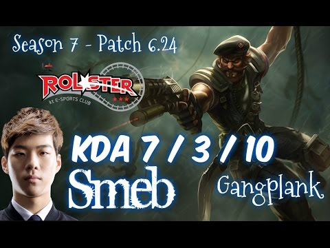 KT Smeb GANGPLANK vs FIORA Top - Patch 6.24 KR Ranked