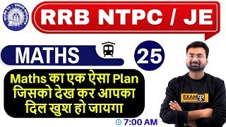 Class -25 || RRB NTPC 75 Days Special /JE || Maths || by Abhinandan Sir || Maths Plan