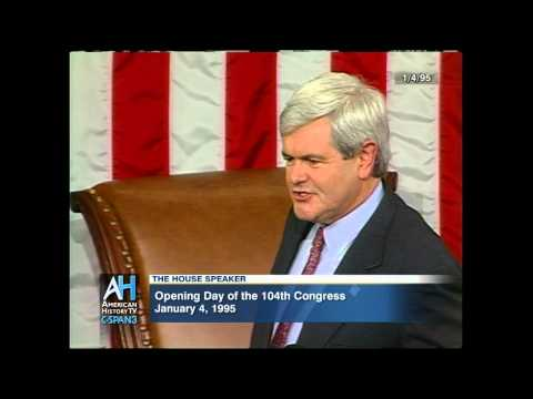Speaker of the House - Newt Gingrich - 1/4/1995