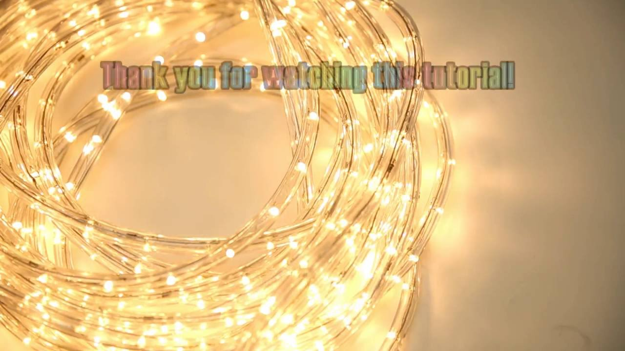Wyzworks Led Rope Light Cut And Splice Tutorial