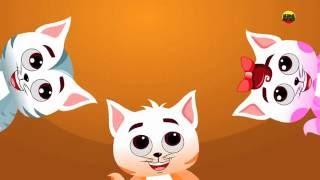 dez na cama | crianças Rima | gatinhos pequenos canção | canção para crianças | Ten In The Bed