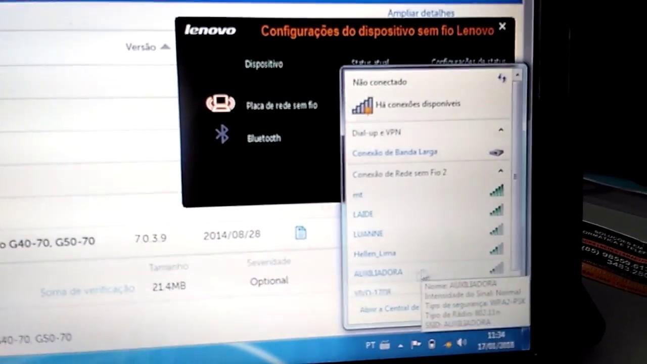 wi-fi não liga notebook Lenovo modelos: g40-70, g485, g460 e ideapad 110  como resolver!