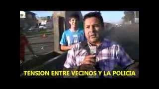 TENSION ENTRE VECINOS Y LA POLICIA EN GONZALEZ CATAN