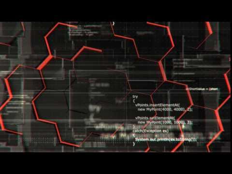 Software developer programming code, looping 4K background