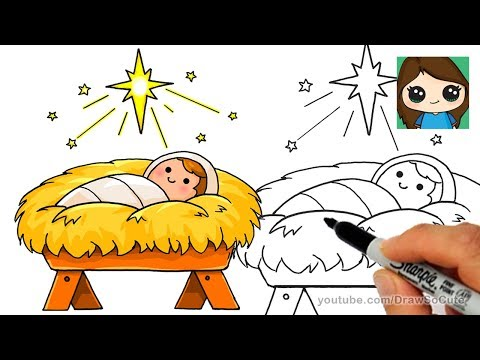how to draw christmas jesus