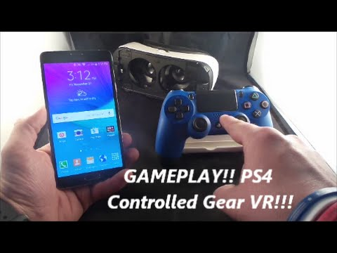 Gear VR Gameplay With PS4 Controller!   though not perfect