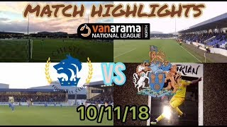 CHESTER FC 1-2 ALTRINCHAM DERBY MATCH HIGHLIGHTS: VANARAMA NATIONAL LEAGUE NORTH: 10/11/18
