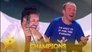 Lost Voice Guy: Disabled Comedian Cracks Everyone Up With Pure Laughter!| BGT: Champions