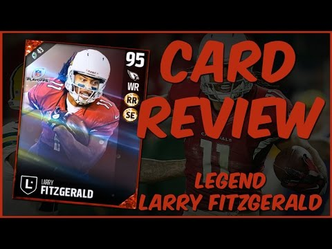 MUT 17 Card Review | Legend Larry Fitzgerald Gameplay + Card Review