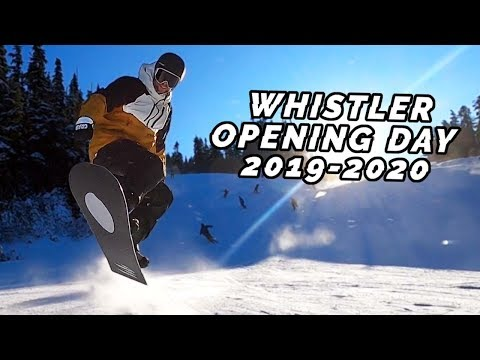 Whistler Opened With 2 Parks! | Opening Day Snowboarding