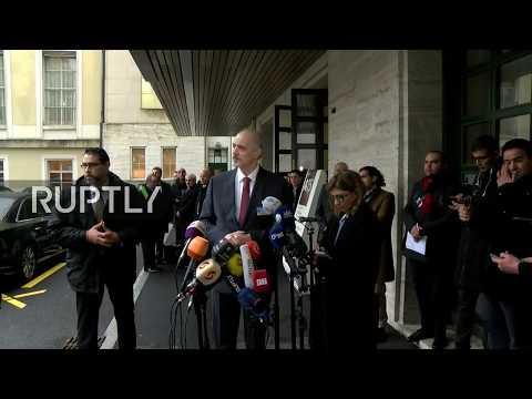LIVE: Syria talks: Jaafari gives statement following meeting with de Mistura